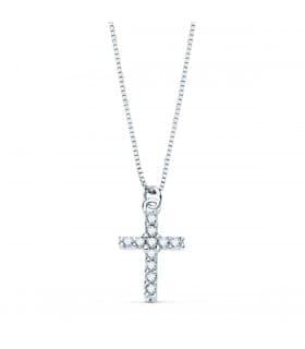 Gargantilla Cruz Diamante 0.050 Qtes. OB 18K